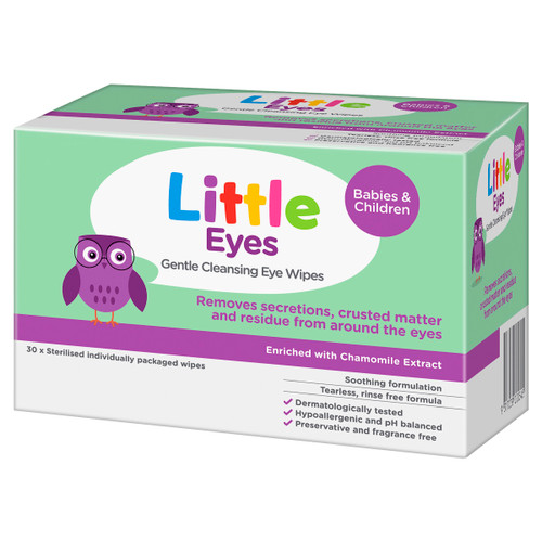 Little Eyes Gentle Cleansing Eye Wipes 30pk