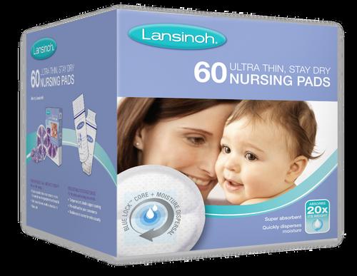 Lansinoh Ultra Thin, Stay Dry Nursing Pads 60pk