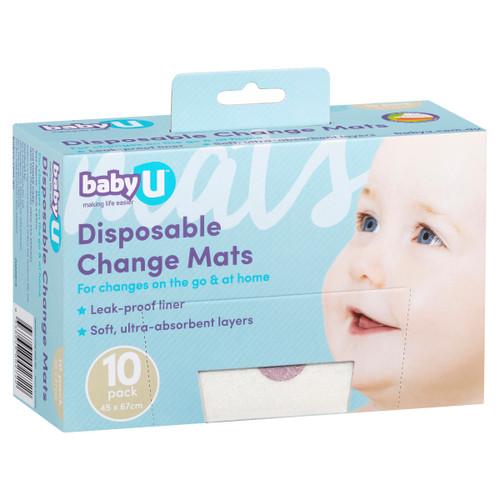 BabyU Disposable Change Mats 10pk