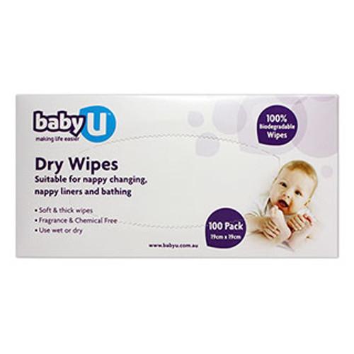 BabyU Dry Wipes 100pk