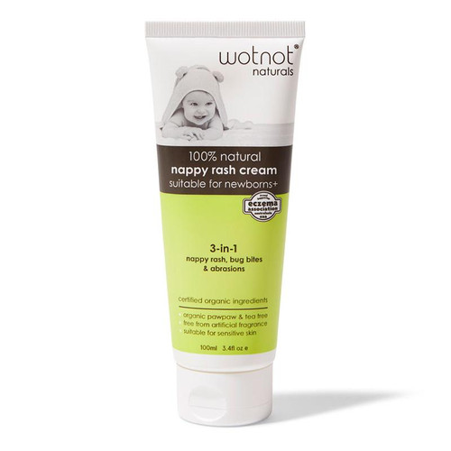 WotNot Naturals 100% Natural Nappy Rash Cream & Baby Balm 100ml