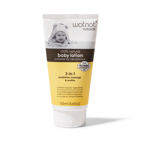 WotNot Naturals 100% Natural & Organic Baby Lotion 135ml