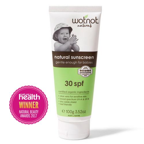 WotNot Naturals SPF30 Natural Baby Sunscreen 100g