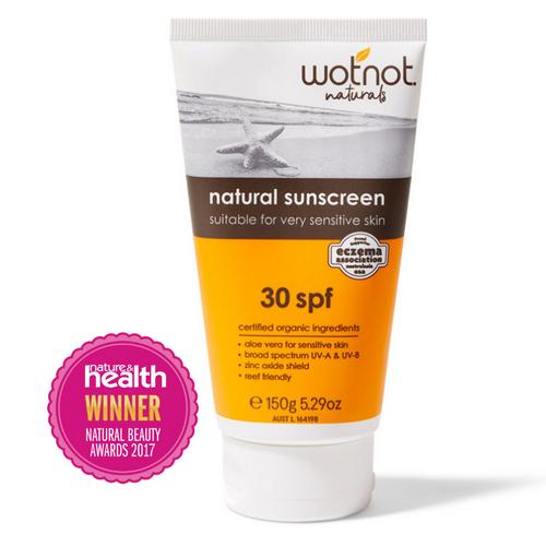 WotNot Naturals SPF30 Natural Sunscreen 150g