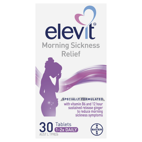 Morning Sickness Relief Tablets 30 Pack Front of Packaging