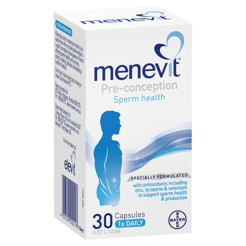 Menevit Pre-Conception Sperm Health Capsules 30 pack packaging