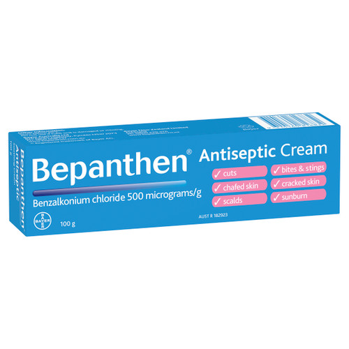 Bepanthen Antiseptic Soothing Cream front of carton