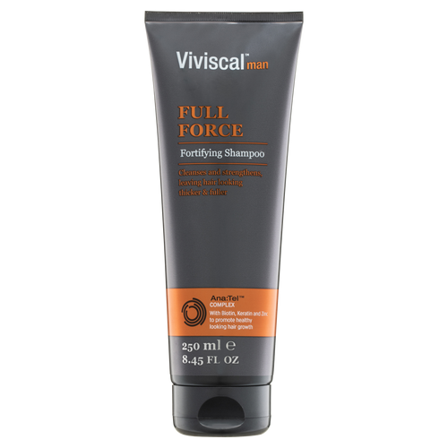 Viviscal Mens Full Force Fortifying Shampoo Front of Tube