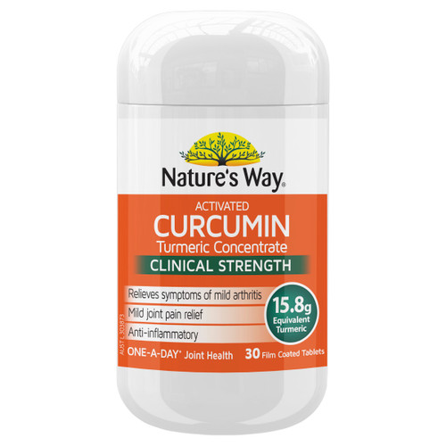 Nature's Way Activated Curcumin Turmeric Concerntrate 30t