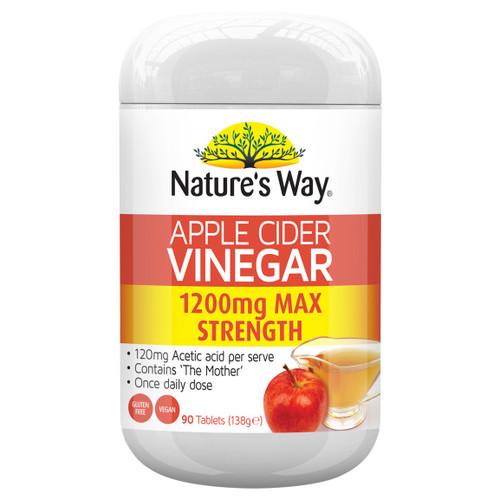 Nature's Way Superfoods Apple Cider Vinegar Max 1200mg 90t