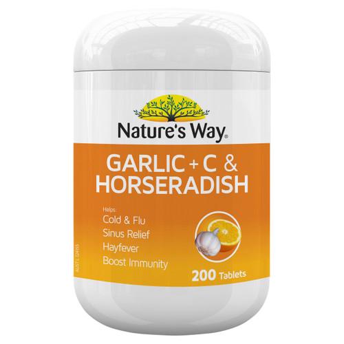 Nature's Way Garlic, Vitamin C & Horseradish 200t