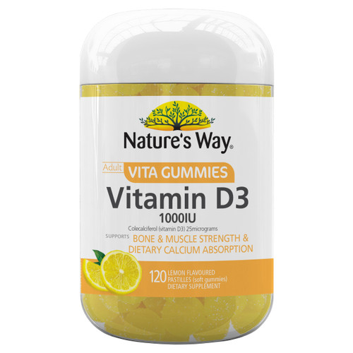 Nature's Way Adult Vita Gummies Vitamin D3 1000IU (120 Gummies)