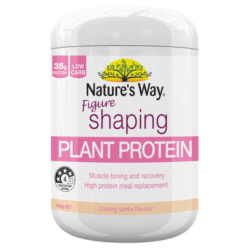 Nature's Way Figure Shaping Plant Protein Vanilla 400g