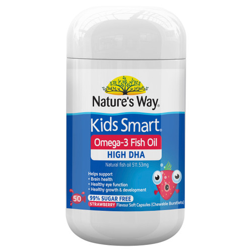 Nature's Way Kids Smart Omega-3 Fish Oil Strawberry 50c