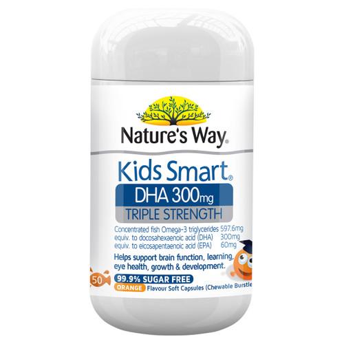 Nature's Way Kids Smart DHA 300mg Triple Strength 50c