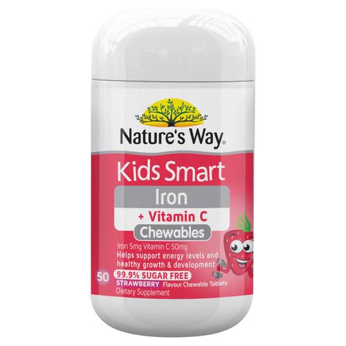 Nature's Way Kids Smart Iron + Vitamin C Chewables 50t