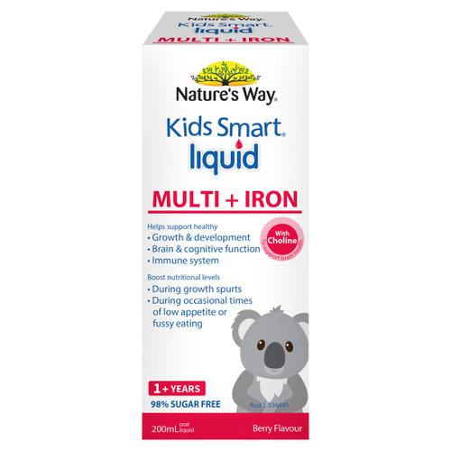 Nature's Way Kids Smart Multi + Iron Liquid 200ml
