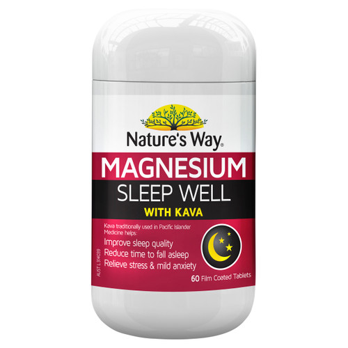 Nature's Way Magnesium Sleep Well with Kava 60t
