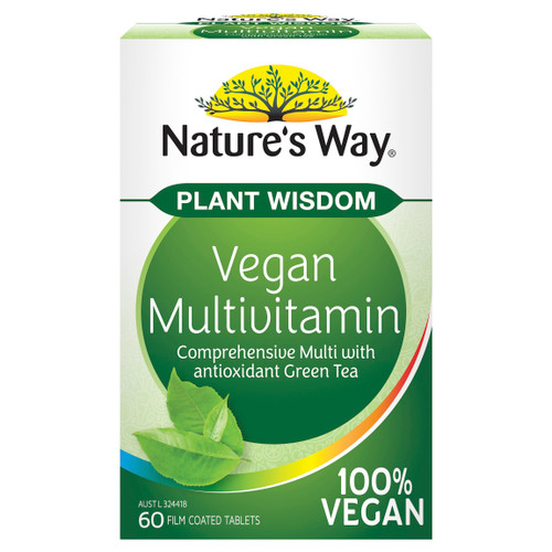 Nature's Way Plant Wisdom Vegan Multivitamin 60t