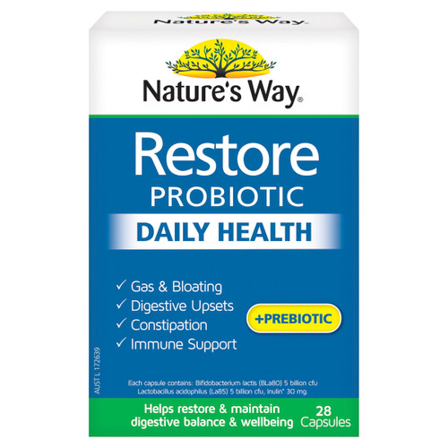 Nature's Way Restore Probiotic Daily Health 28c