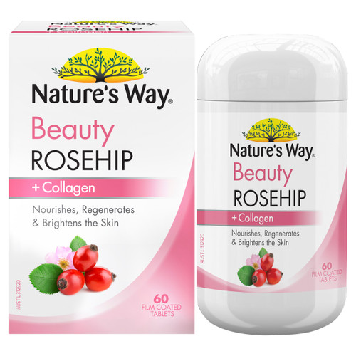 Nature's Way Beauty Rosehip + Collagen 60t