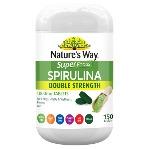 Nature's Way Super Spirulina Double Strength 150t