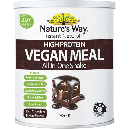 Nature's Way Instant Natural High Protein Chocolate Vegan Meal 400g