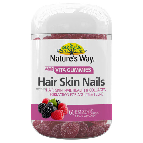 Nature's Way Adult Vita Gummies Hair Skin Nails (60 Gummies)
