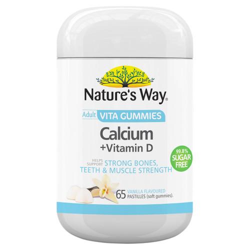 Nature's Way Adult Vita Gummies Calcium + Vitamin D 99.8% Sugar Free (65 Gummies)