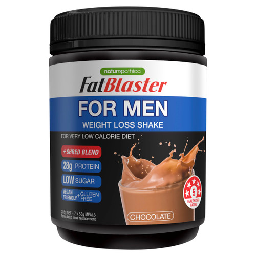 Naturopathica FatBlaster Men's Weight Loss Shake Chocolate 385g