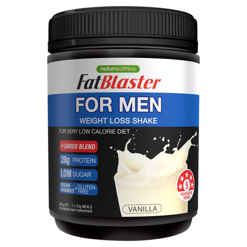 Naturopathica FatBlaster Men's Weight Loss Shake Vanilla 385g