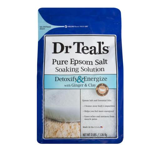 Dr Teals Ginger & Clay Epsom Salt 1.36kg