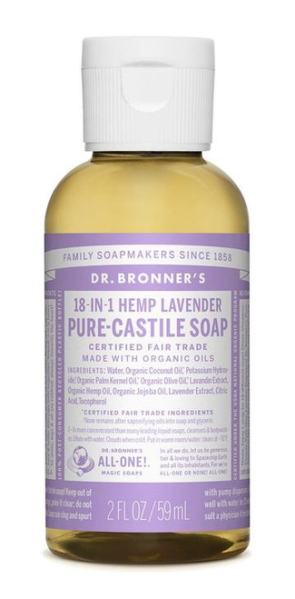 Dr. Bronner's Pure-Castile Lavender Liquid Soap 59ml