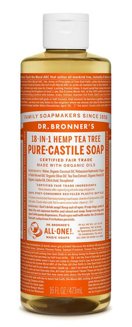 Dr. Bronner's Pure-Castile Tea Tree Liquid Soap 473ml