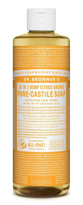 Dr. Bronner's Pure-Castile Citrus Orange Liquid Soap 473ml