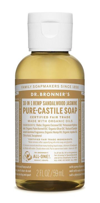 Dr. Bronner Pure-Castile Sandalwood Jasmine Liquid Soap 59ml