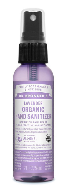 Dr. Bronner's Organic Lavender Sanitizing Spray 59ml
