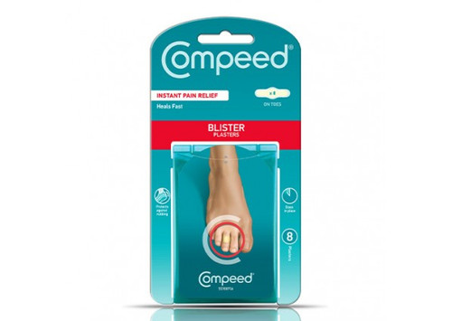 Compeed Blister Plasters For Toes 8 Pack