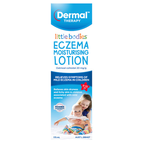 Little Bodies Eczema Moisturising Lotion 175ml Front of Packaging