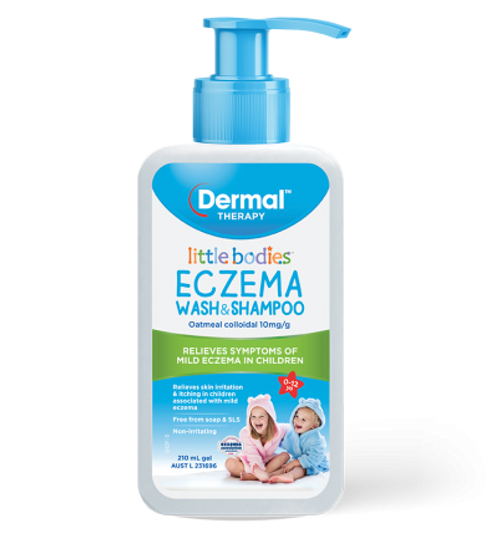 Little Bodies Eczema Wash & Shampoo 210ml Front of Packaging