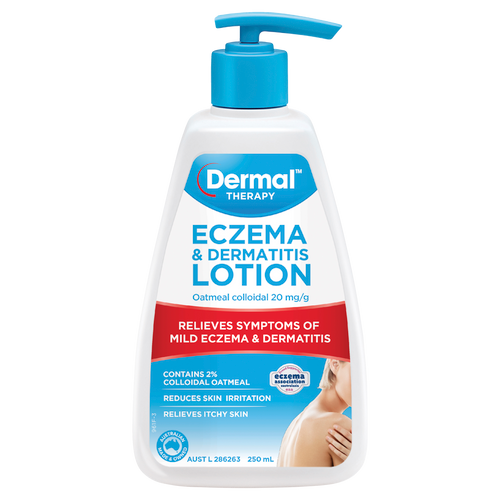 Eczema Moisturising Lotion 250mL Front of Packaging