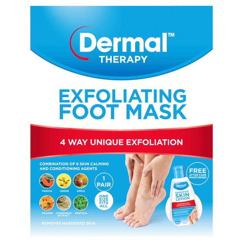 Exfoliating Foot Mask Front of Packaging