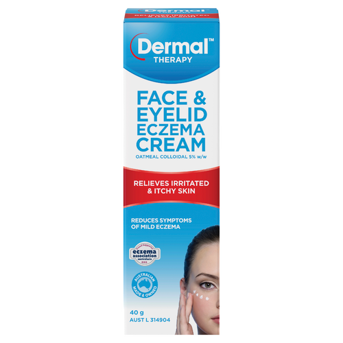 Face & Eyelid Eczema Cream 40g Front of Packaging