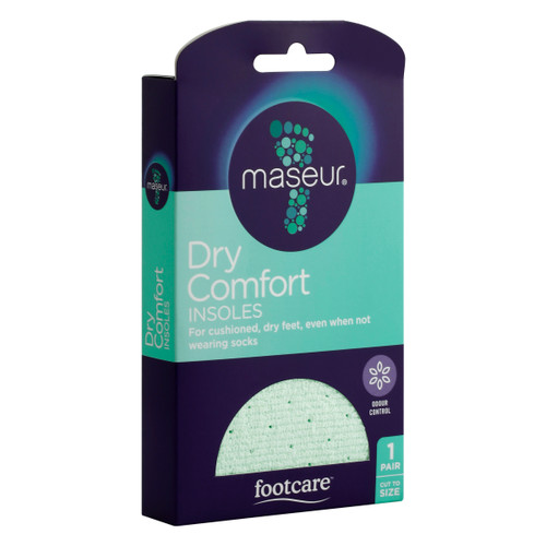 Maseur Dry Comfort Insoles 1 Pair Front of Packaging