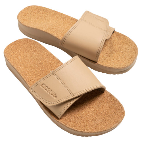 Maseur Gentle Massage Sandal Beige Size 4 Front of Product