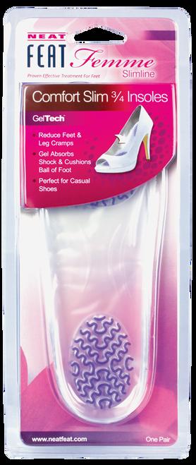 Neat Feat Slimline Gel Comfort Slim 3/4 Insole 1 Pair