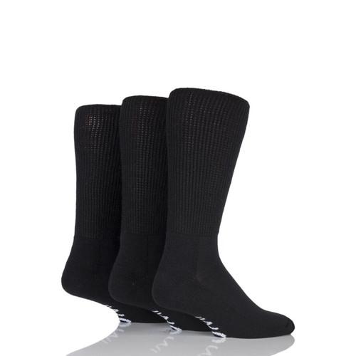 Iomi Gentle Grip Diabetic Unisex Socks Black
