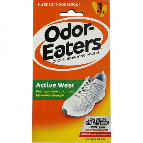 Odor Eaters Active Wear Insoles 1 Pair Front of Product