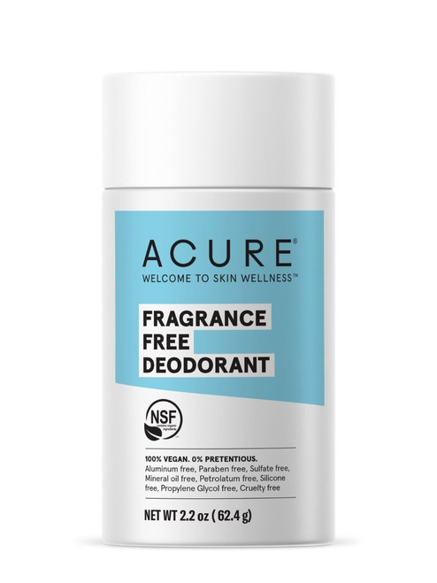 Acure Fragrance Free Deoderant 64g