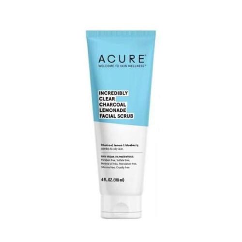 Acure Incredibly Clear Charcoal Lemonade Facial Scrub 118ml